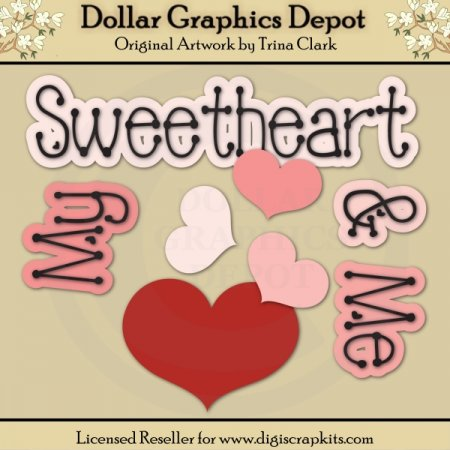 My Sweetheart 1 - Cutting Files / Paper Piecing Patterns