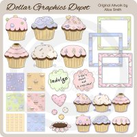 Super Cupcake Collection - Clip Art