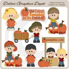 Cutest Pumpkin In The Patch 1 - Clip Art
