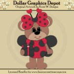 Ladybug Bear 4 - Cutting Files / Paper Piecing - *DGD Exclusive*