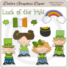 Little Irish Folk - Clip Art