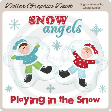 Little Snow Angels - Clip Art