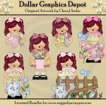 Whimsical Garden Annies - Clip Art - *DGD Exclusive*