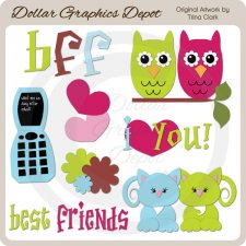 Best Friends 1 - Clip Art