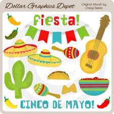 Cinco De Mayo Celebration - Clip Art