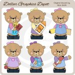 School Teddies 2 - Clip Art - *DGD Exclusive*