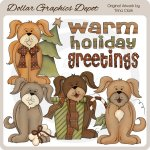 Holiday Puppies - Clip Art