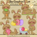 Easter Bunnies 2 - Clip Art
