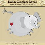 Jungle Elephant - Cutting Files / Paper Piecing Patterns