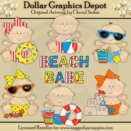 Beach Babies - Clip Art - *DGD Exclusive*