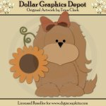 Autumn Puppy 1 - Cutting Files / Paper Piecing Patterns