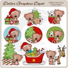 Bearington Bear Loves Christmas - Clip Art