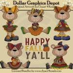 Fall Bears - Clip Art - *DGD Exclusive*