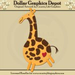 Jungle Giraffe - Cutting Files / Paper Piecing Patterns
