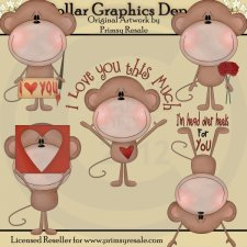 Love Monkeys - Clip Art