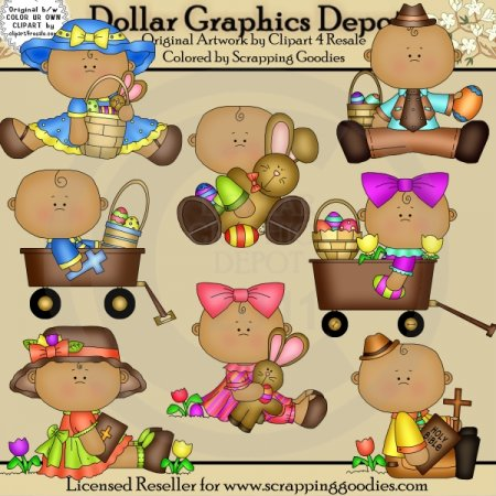 Sweet Easter Babies 2 - Clip Art