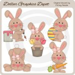 Easter Bunnies 3 - Clip Art
