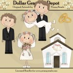 Lolly and Landon Get Married - Clip Art