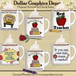 School Mugs - Clip Art