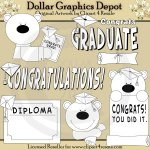 Graduation Bears - Digital Stamps