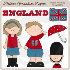 British Kids - Clip Art