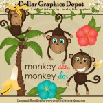 Monkey See, Monkey Do - Clip Art