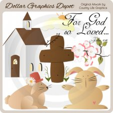 For God So Loved 1 - Clip Art
