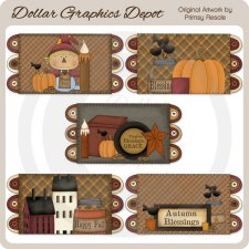 Fall Prims 1 - Penny Rugs - Clip Art