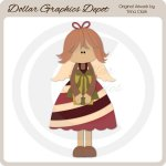 Candy Cane Angel 1 - Cutting Files / Paper Piecing Patterns