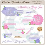 Tea With Mom - Clip Art