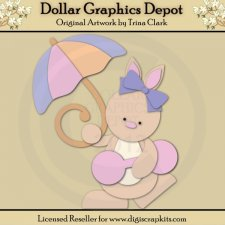 Baby Shower Bunny 1 - Cutting Files / Paper Piecing Patterns