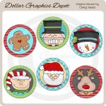 Christmas Littles Round Labels