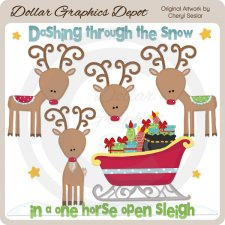 Dashing Through The Snow 1 - Clip Art