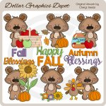 Boppy Bear - Autumn Blessings - Clip Art