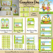 Easter Bunny Wrappers - Printables
