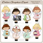 Sweet Angels - Get Well - Clip Art