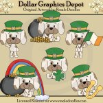 St. Patty's Pups - Clip Art