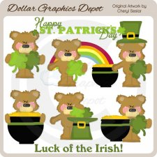Sweet Irish Bears - Clip Art