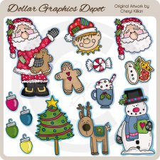Sweet Christmas 1 - Clip Art
