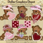 Tattered Teddies - Be Mine - Clip Art