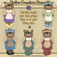 Angel Bears 1 - Clip Art - *DGD Exclusive*