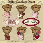 Beary Special Valentine - Clip Art