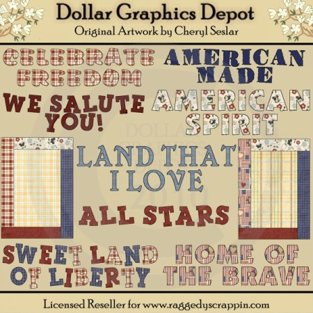 Americana Word Art - *DGD Exclusive*
