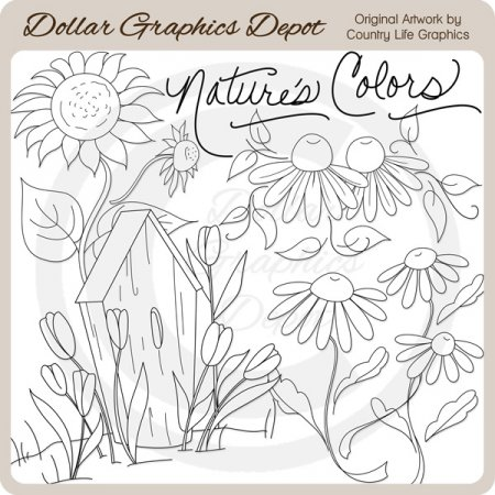 Nature's Colors - Digital Stamps