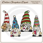 Little Christmas Gnomes - Clip Art