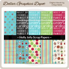Holly Jolly - Scrap Papers