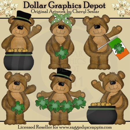 Benny and Babs - Irish - Clip Art - *DGD Exclusive*