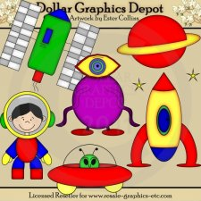 Aliens from Outer Space - Clip Art