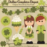 St. Patrick's Day Party - Clip Art