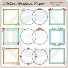 Spring Frames 1 - Scrap Elements - *DGD Exclusive*